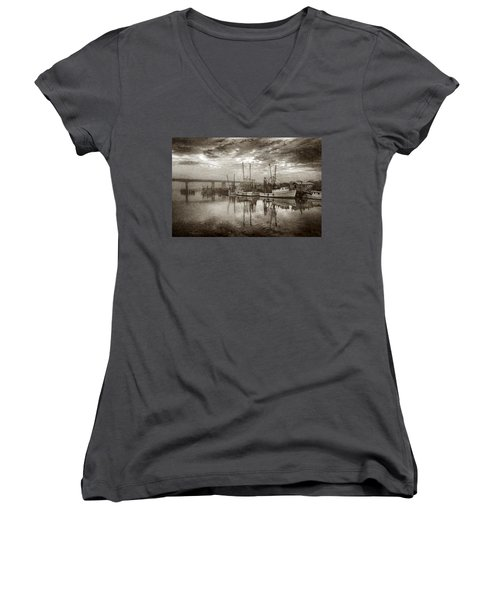 Ladies In Waiting - Painted Women's V-Neck (Athletic Fit)