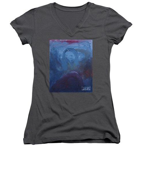 Lady Blue Women's V-Neck T-Shirt