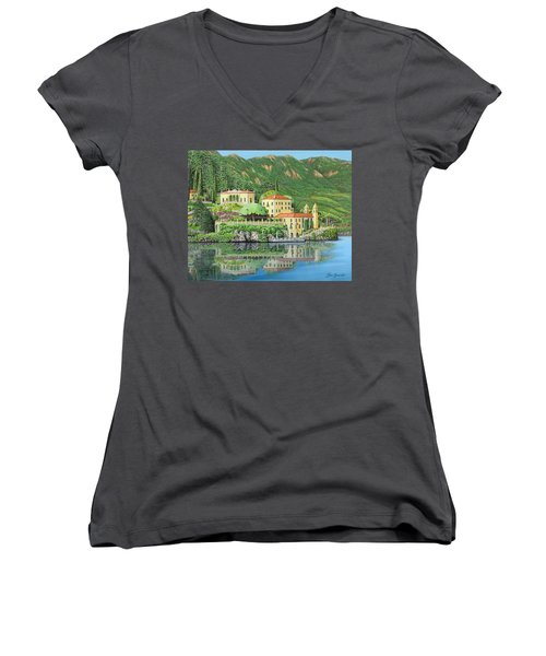 Lake Como Morning Women's V-Neck