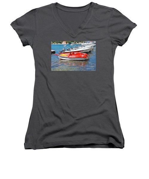 Lakka Harbour Paxos Women's V-Neck T-Shirt