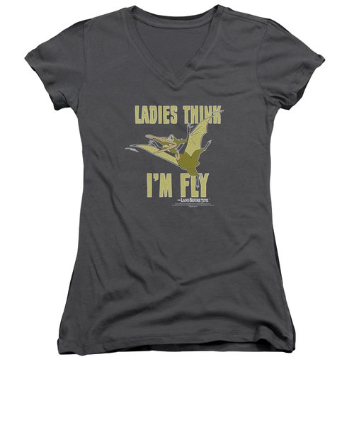 Land Before Time - I'm Fly Women's V-Neck T-Shirt (Junior Cut) by Brand A