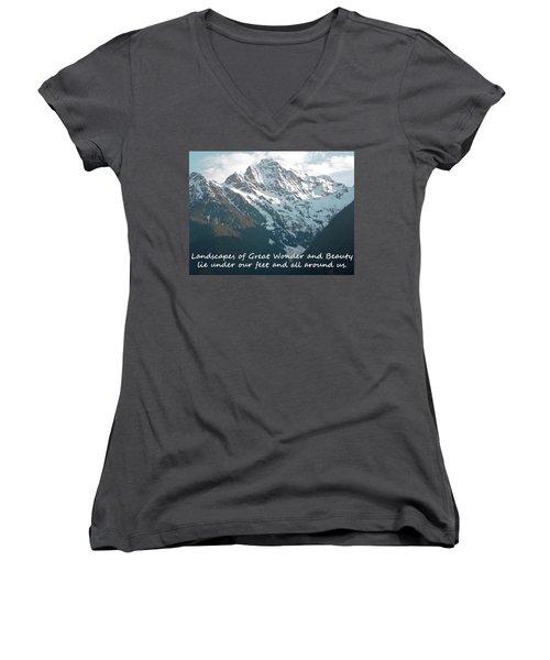 Landscapes Of Great Wonder  Women's V-Neck T-Shirt