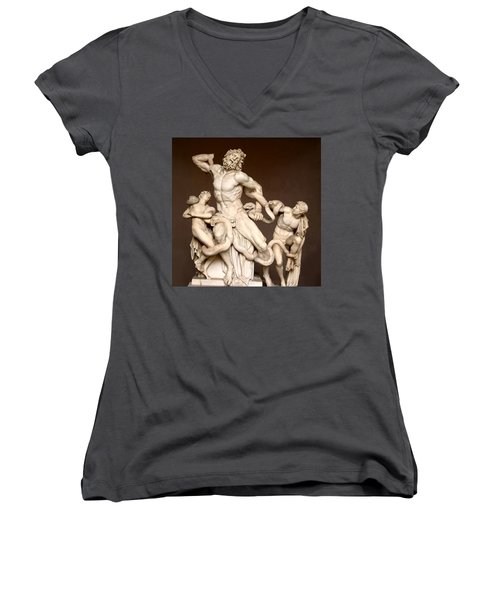 Laocoon And Sons Women's V-Neck T-Shirt (Junior Cut) by Ellen Henneke