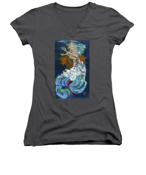 Dive Into Your Soul Women's V-Neck (Athletic Fit)