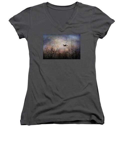 Women's V-Neck featuring the photograph Last Delivery Of The Day by Dale Kincaid