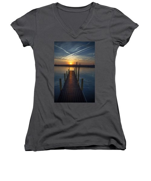 Launch A New Day Women's V-Neck