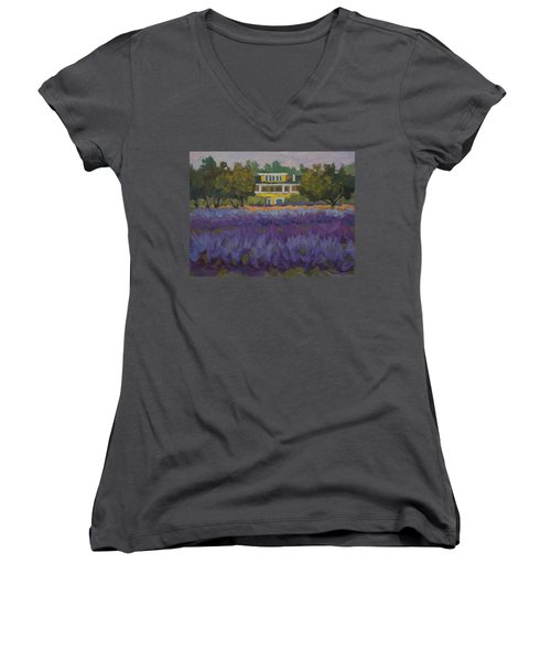Lavender Farm On Vashon Island Women's V-Neck