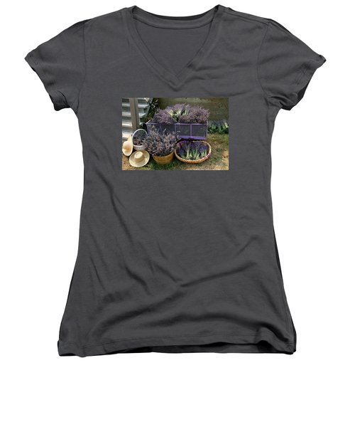 Lavender Harvest Women's V-Neck T-Shirt
