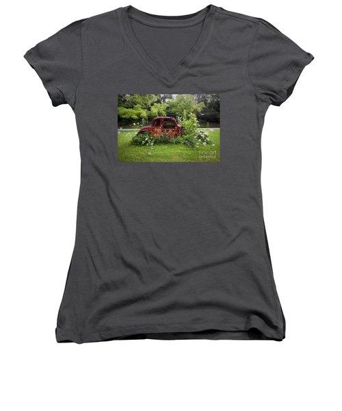 Lawn Ornament Women's V-Neck