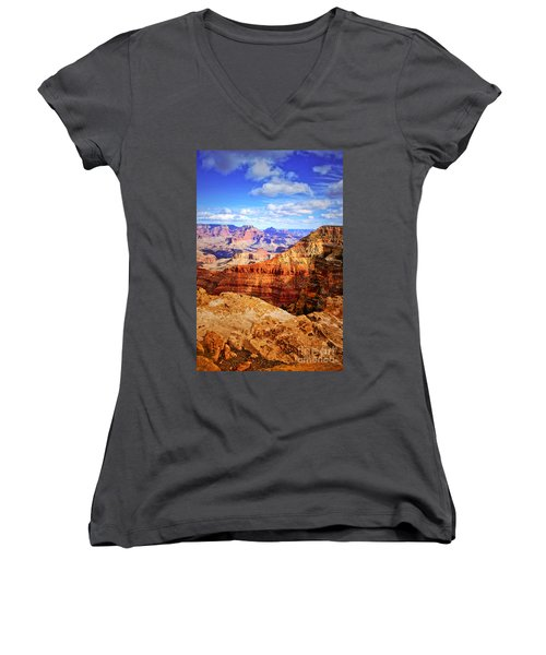 Layers Of The Canyon Women's V-Neck T-Shirt (Junior Cut)