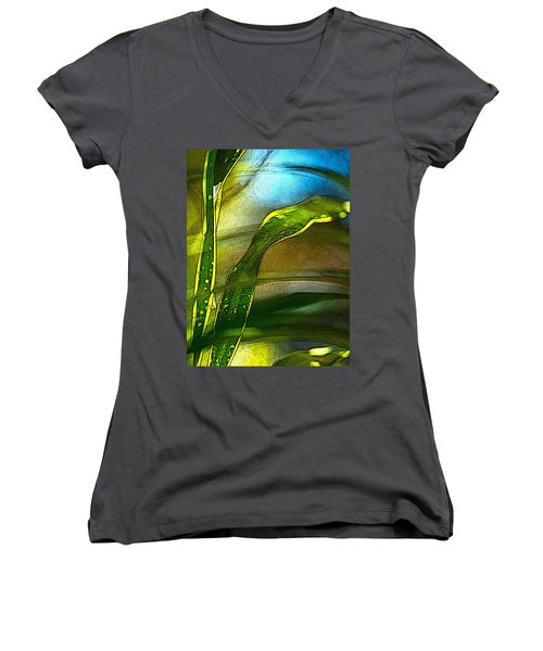 Leaves And Sky Women's V-Neck (Athletic Fit)