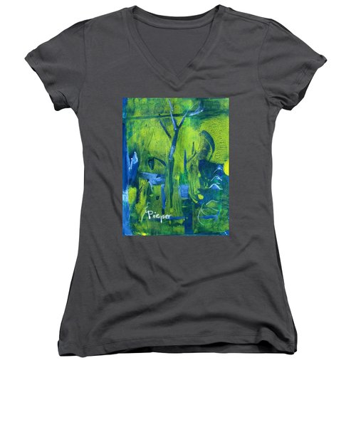 Lemon Willow Women's V-Neck T-Shirt