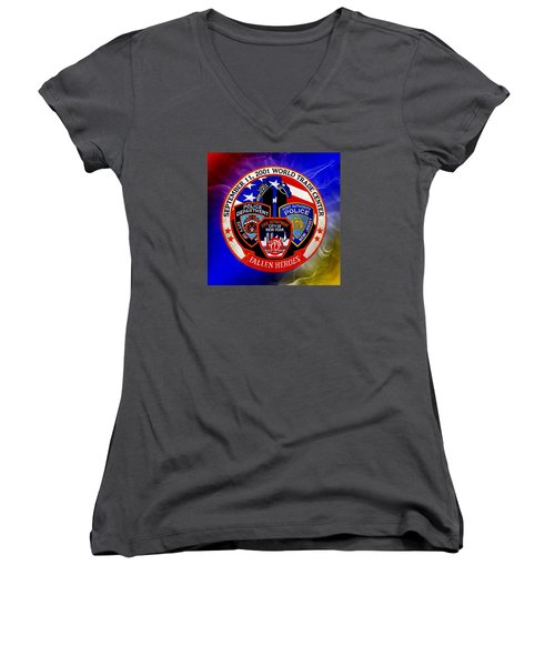 Least We Forget  Women's V-Neck T-Shirt (Junior Cut)
