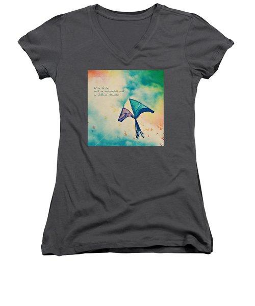 Let Me Fly Free Women's V-Neck