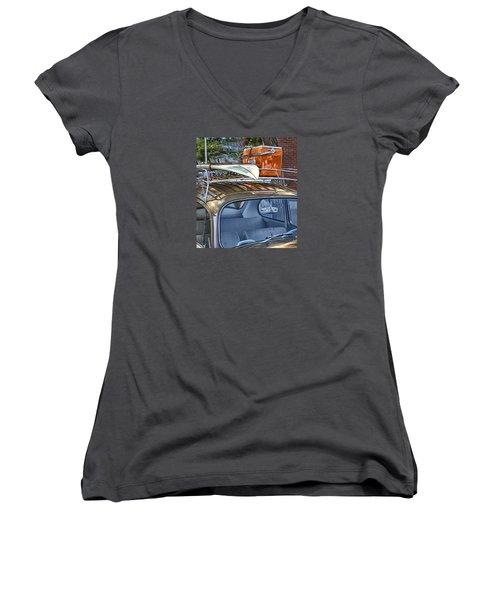 Let's Go Surfing Women's V-Neck T-Shirt