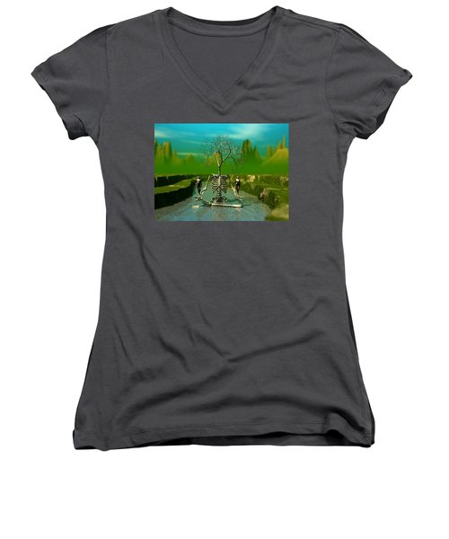 Life Death And The River Of Time Women's V-Neck T-Shirt