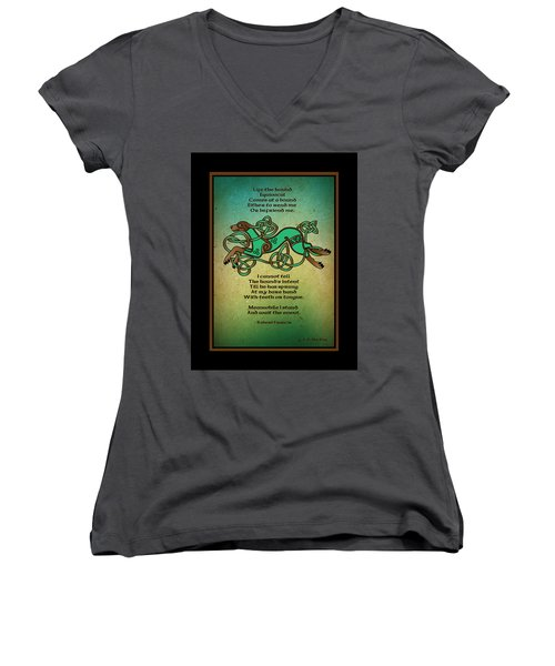 Life The Hound Women's V-Neck (Athletic Fit)