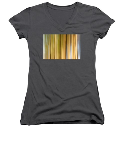 Women's V-Neck T-Shirt (Junior Cut) featuring the photograph Light And Snow by Davorin Mance