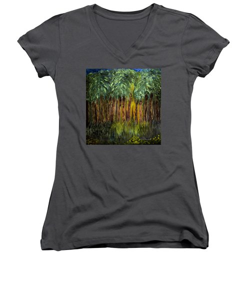 Light In The Forest Women's V-Neck T-Shirt