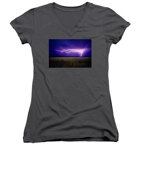 Lightning Serengeti Women's V-Neck (Athletic Fit)