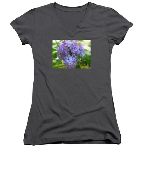 Lilacs Women's V-Neck (Athletic Fit)