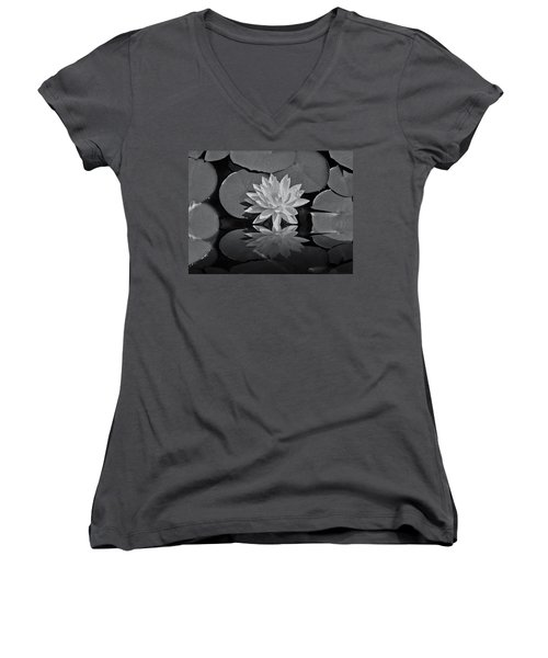 Lily On The Pond Women's V-Neck T-Shirt