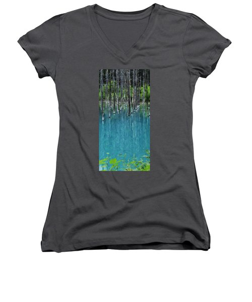 Liquid Forest Women's V-Neck (Athletic Fit)