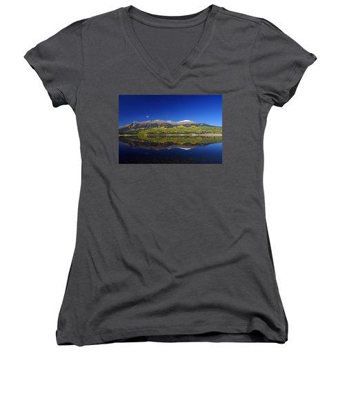 Liquid Mirror Women's V-Neck T-Shirt (Junior Cut) by Jeremy Rhoades