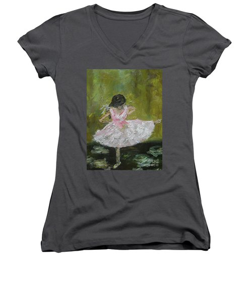 Little Dansarina Women's V-Neck T-Shirt