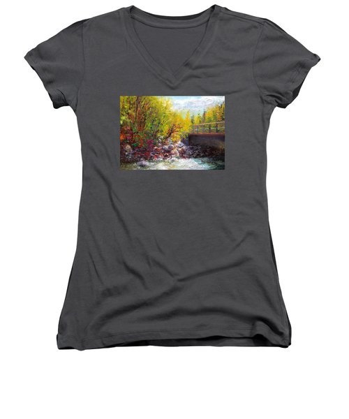Living Water - Bridge Over Little Su River Women's V-Neck