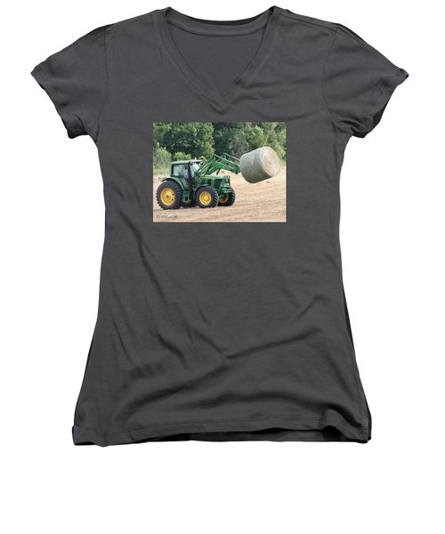 Loading Hay Women's V-Neck T-Shirt (Junior Cut) by J McCombie
