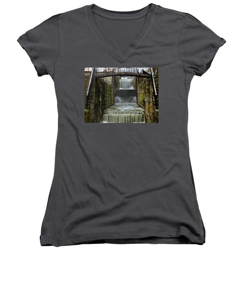 Lockport Falls Women's V-Neck T-Shirt