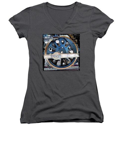 Loco Wheel Women's V-Neck (Athletic Fit)