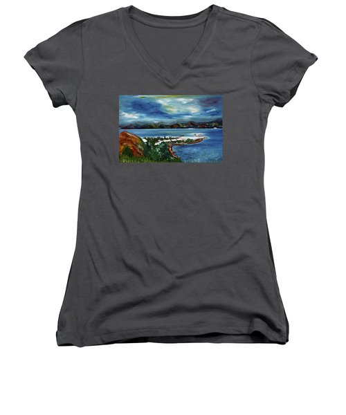 Loloata Island Women's V-Neck T-Shirt