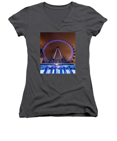 London Eye Supports Women's V-Neck (Athletic Fit)