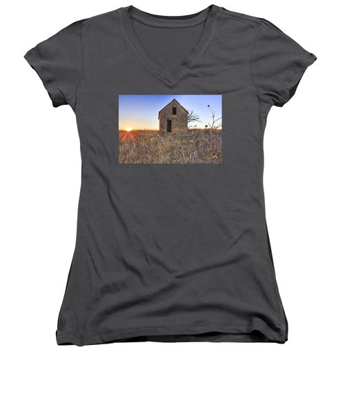 Lonely Homestead Women's V-Neck (Athletic Fit)