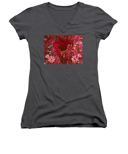 Look Deep Into My Heart Women's V-Neck (Athletic Fit)