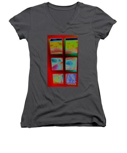 Look Through Any Window Women's V-Neck T-Shirt