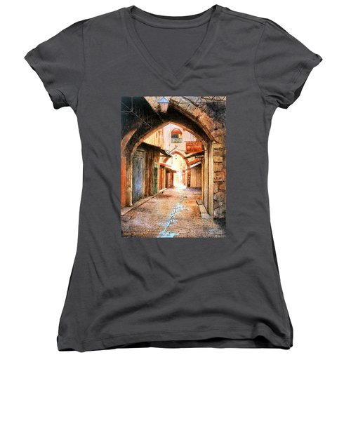 Look Who Is Coming Women's V-Neck