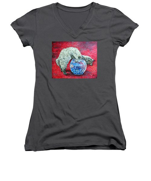 Lookin For Some Betta Kissin Women's V-Neck T-Shirt