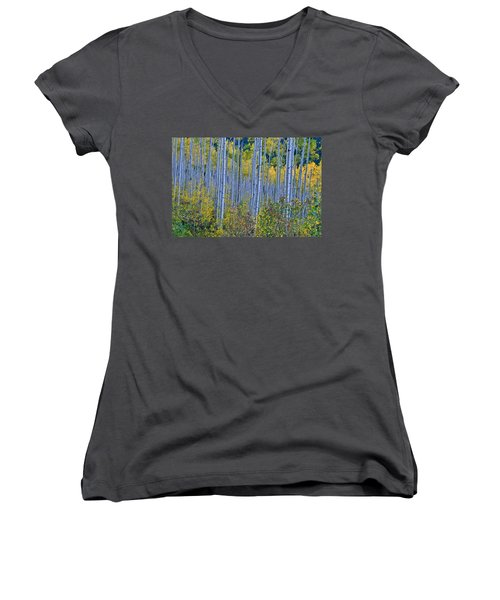 Women's V-Neck T-Shirt (Junior Cut) featuring the photograph Lost In The Crowd by Jeremy Rhoades