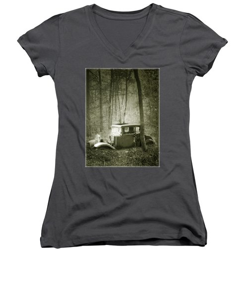 Lost In The Woods Women's V-Neck (Athletic Fit)
