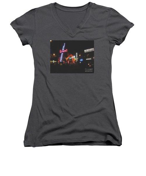 Louisville Kentucky Misty Nights Women's V-Neck T-Shirt
