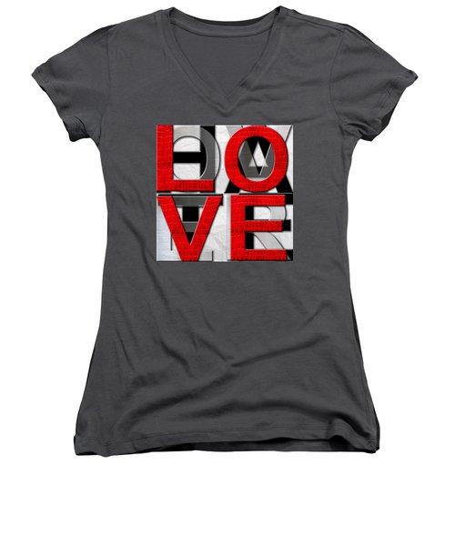 Love Over Hate Women's V-Neck T-Shirt