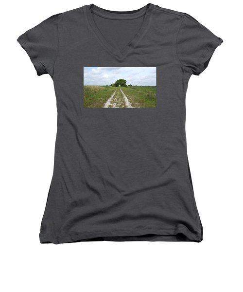 Loxahatchee Wildlife Refuge Women's V-Neck T-Shirt