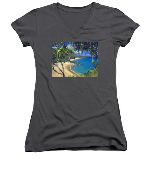 Lumahai Beach Women's V-Neck (Athletic Fit)