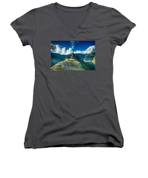 Machu Picchu Women's V-Neck T-Shirt