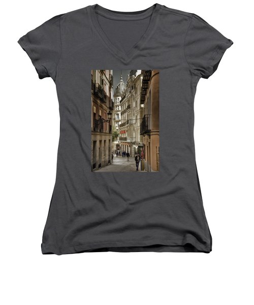 Madrid Streets Women's V-Neck T-Shirt (Junior Cut)