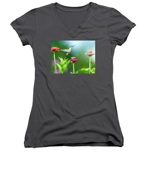 Magic Garden Women's V-Neck (Athletic Fit)