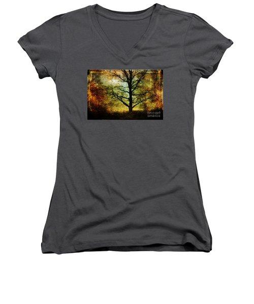 Magic Night Women's V-Neck T-Shirt (Junior Cut) by Randi Grace Nilsberg